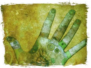 Hands of Chakra Energy Green